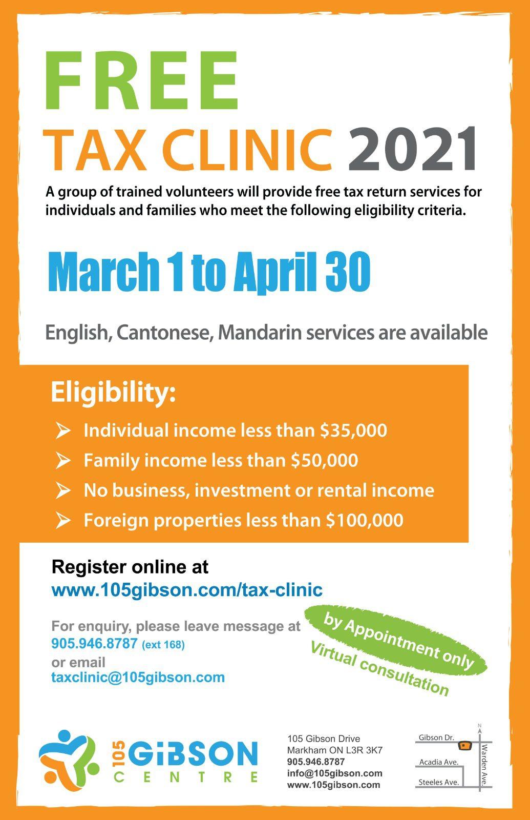 Free Tax Clinic 2021