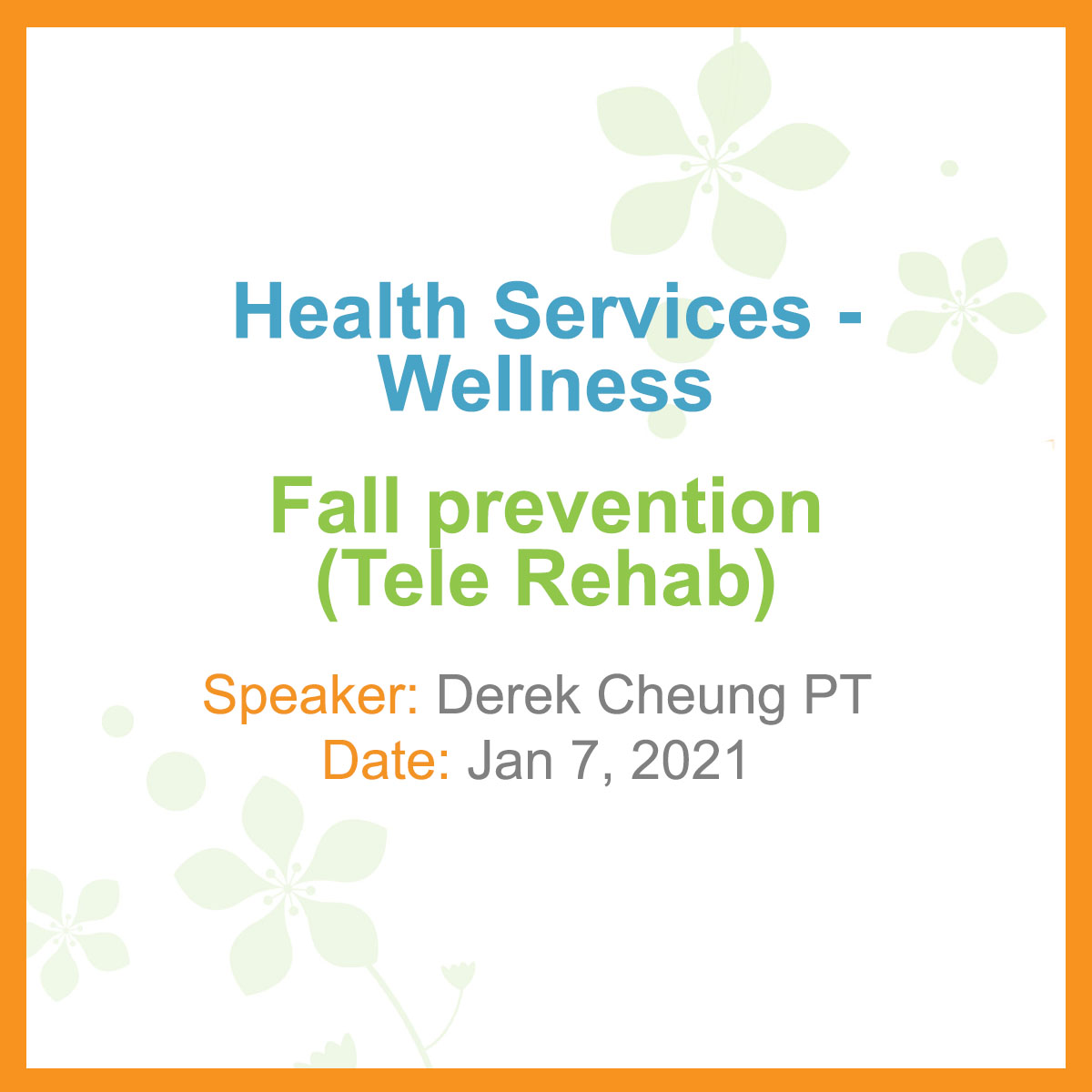 Health Services Fall Prevention
