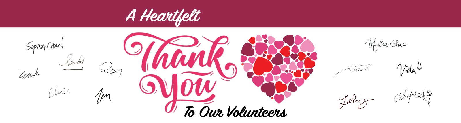 A Heartfelt Thank You to our Volunteers Banner