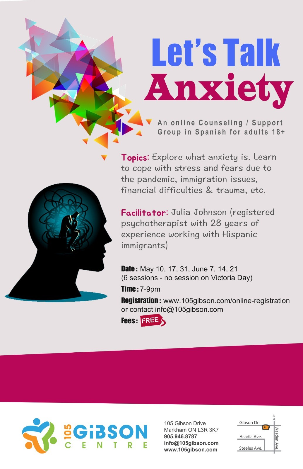 Let's Talk Anxiety Poster